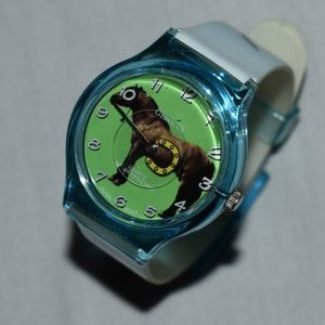 NWOT Vintage Geneva Horses Watch Blue/White
